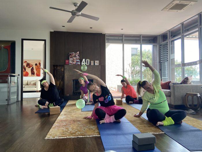 Devahiti Yoga class at Picquet, Eagle Bay