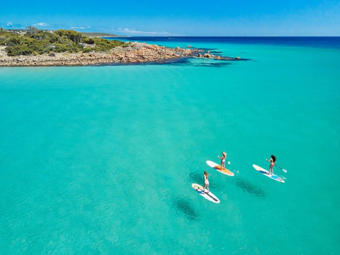 SUP is shown as one of the Margaret River Summer Bucket List activities