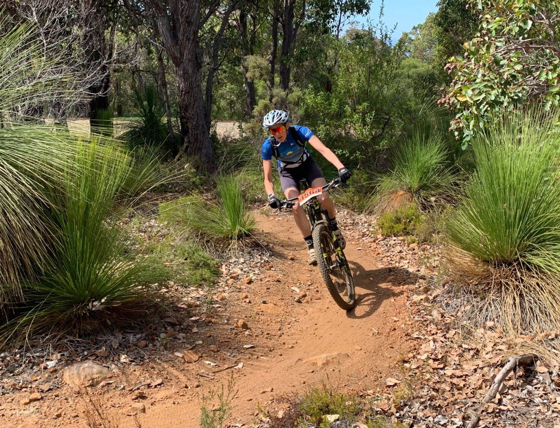 Jess on the trails in Dunsborough
