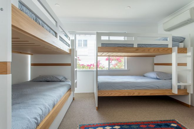 Bedroom 3 with bunks at Surf's Up, Yallingup