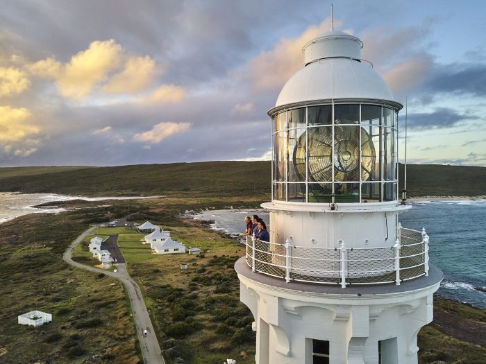 Way up high - Cape Leeuwin Lighthouse near Augusta. Image courtesy of Tim Campbell